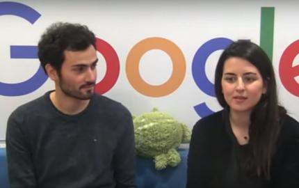 Capture d'écran - session hangout avec Google