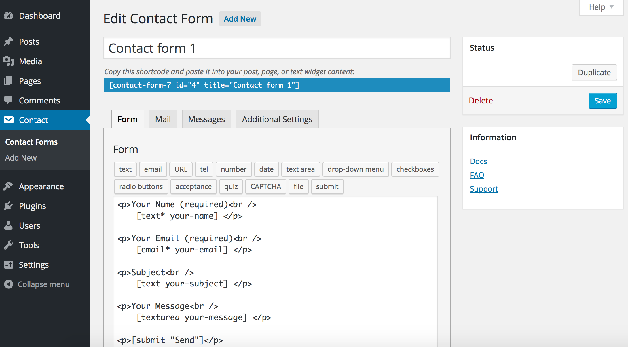 Contact Form 7