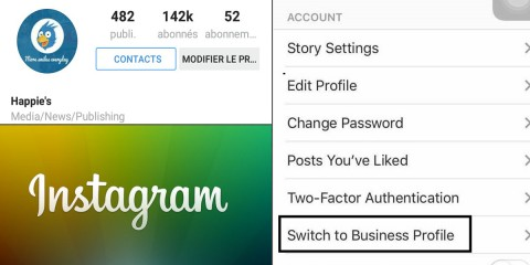 instagram bouton contact